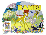Bambi, UK Movie Poster, 1942 Giclee Print