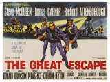 The Great Escape, UK Movie Poster, 1963 Gicle-tryk
