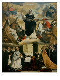 Apotheosis of Saint Thomas Aquinas Giclee Print by Francisco de Zurbarán