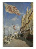 The Hotel des Roches Noires at Trouville Giclee Print by Claude Monet