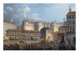 Demolition of the Bastille July 17, 1789 Giclee Print by Pierre-Antoine Demachy