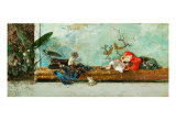 The Artist's Children in the Japanese Drawing Room Giclee Print by Fortuny y Marsal Mariano
