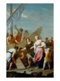 Embarkation of Helen for Troy Giclée-tryk af Jacopo Amigoni