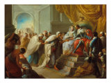 Embassy of the King of Fez to the Catholic Kings Giclee Print by Vicente Lopez y Portana