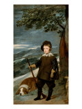 Prince Baltasar Carlos as Huntsman Giclee Print by Diego Velazquez