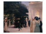A Soiree at Pre-Catelan, detail, 1909 Giclee Print by Henri Gervex