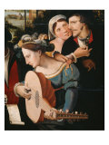 Gallant Scene or The Five Senses (Lute player and couple) Giclee Print