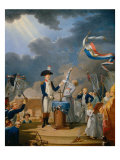 The Oath of Lafayette at the Celebration of the Federation, July 14, 1790 Giclee Print