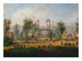 Exhibition at Champ de Mars in the 1867, detail Reproduction procédé giclée