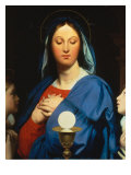 Virgin with the Host Lámina giclée por Jean-Auguste-Dominique Ingres