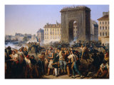 Battle at Porte Saint Denis July 1830 Giclee Print by Hippolyte Lecomte