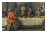 Last Supper: Central part Giclée-tryk af Matteo Rosselli