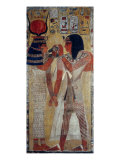 Goddess Hathor and King Sethi I Giclee Print
