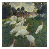 Les Dindons (The Turkeys) Giclee Print by Claude Monet