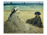 On the Beach Giclee Print by &#201;douard Manet