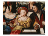 Gallant Scene or The Five Senses (Couple) Giclee Print