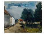 Landscape at Auvers Giclee Print by Maurice de Vlaminck