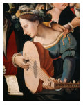 Gallant Scene or The Five Senses (Lute Player) Giclee Print