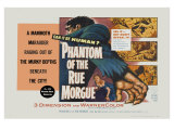Phantom of the Rue Morgue, UK Movie Poster, 1954 Lámina giclée