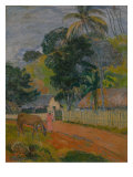 Tahitian Landscape, 1899 Giclee Print by Paul Gauguin