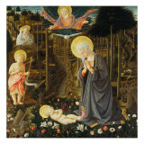 Nativity Gicle-tryk af Filippo Lippi