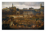 View of the city of Blois Giclee Print by Jean Baptiste Martin
