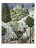 Procession of the Magi: Wall with Lorenzo, detail (Castle) Giclee Print by Benozzo Gozzoli