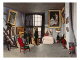 The Artist's Studio Giclee Print by Frederic Bazille
