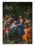 Christ, Raising of Jairus' Daughter Giclee Print by Agnolo Bronzino