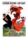 Bringing Up Baby, French Movie Poster, 1938 Lámina giclée