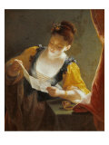 Woman Reading a Letter Giclee Print by Jean Raoux