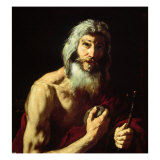Saint Jerome in Penitence Giclee Print by Jusepe de Ribera