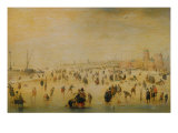 Ice Skaters Giclee Print by Hendrick Avercamp