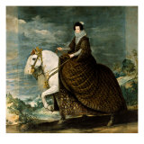 Equestrian Portrait of Isabella of Bourbon Giclee Print by Diego Velázquez
