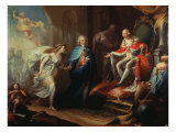 Godoy Presenting Peace to Charles IV Giclee Print by Jose Aparicio