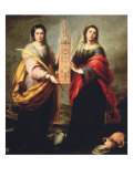 Saints Justa and Rufina Giclee Print by Bartolome Esteban Murillo