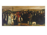 The Burial at Ornans Giclee Print by Gustave Courbet