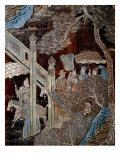 Screen Called 'Coromandel' with Scenes from the Life in the Forbidden Town of Peking: Arrival of a  Giclee Print