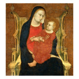 Madonna and Child Enthroned Giclee Print