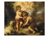 The Children of the Shell Gicléedruk van Bartolome Esteban Murillo
