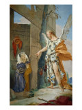Sarah Rebuked by the Angel Giclee Print by Giambattista Tiepolo