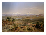 View of Mexico valley, 1901 Giclee Print by Jose Velasco