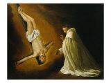 Appearance of Saint Peter to Saint Peter Nolasco Giclee Print by Francisco de Zurbaran