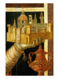 Madonna and Child with Saints - detail (view of Florence) Gicle-tryk af Andrea del Verrocchio