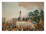 Louis XVI at the Gallows January 21, 1793 Giclee Print