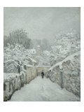 Snow at Louveciennes Giclee Print by Alfred Sisley