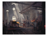 An Iron Foundry Giclee Print by Fernand Cormon