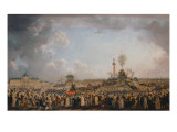 Festival of Etre Supreme at Champ de Mars in 1794 Giclee Print by Pierre-Antoine Demachy