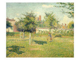 Woman on a Lawn Giclee Print by Camille Pissarro