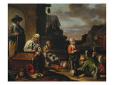 Peasants at the Well Giclee Print by Louis Le Nain